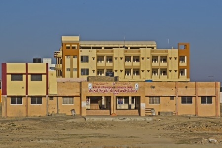 saraswati: FEB 09, 2015,  DWARKA, INDIA - Saraswati first grade school (prathamik vidyalaya) Editorial