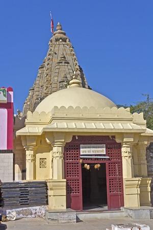 shakti: FEB 11, 2015,  DWARKA, INDIA - Temple of the Goddess Bhadrakali, or The Happy Kali
