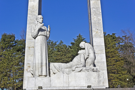 exploit: FEB 9, 2016, SOCHI, RUSSIA - Exploit for behalf of the life, monument dedicated to a Sochi military medics
