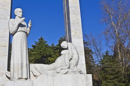 FEB 9, 2016, SOCHI, RUSSIA - Exploit for behalf of the life, monument dedicated to a Sochi military medics
