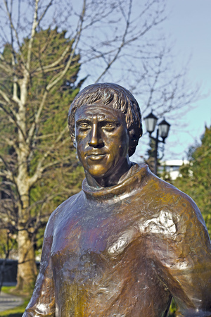 FEB 9, 2016, SOCHI, RUSSIA - Monument of the great artist, poet and singer Vladimir Vysotsky (1938-1980) in Sochi. This monument installed in 2012 Editorial