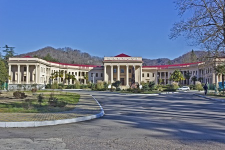 FEB 9, 2016, SOCHI, RUSSIA -  Health resort Matsesta. In this resort built circa 1930 were treated Joseph Stalin and many other soviet leaders