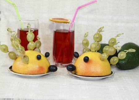 Ridiculous hedgehogs from fruit  Stock Photo - 11968877