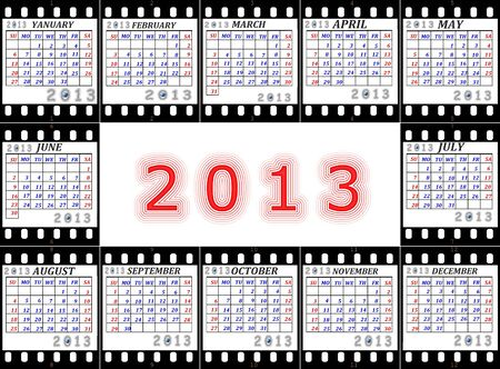 earthly: A calendar on 2013 is English on a film