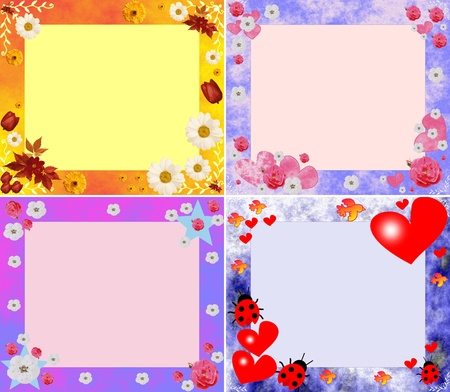 collection of stylish beautiful scopes with  hearts and colors Stock Photo - 16867190