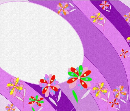 Beautiful abstract background with bright flowers and place for text