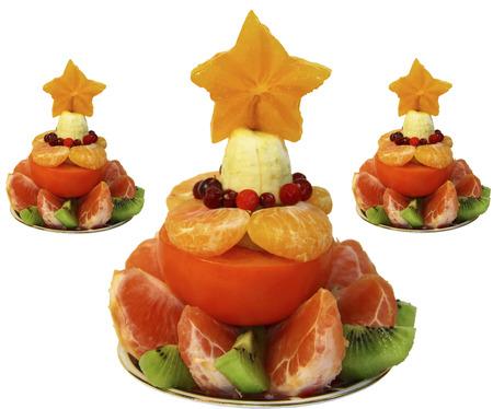 Herringbone tasty fresh fruit, food for children, table decoration