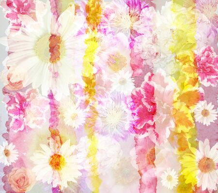 picturesque: Picturesque  abstract floral background made with color filters, watercolor composition Stock Photo