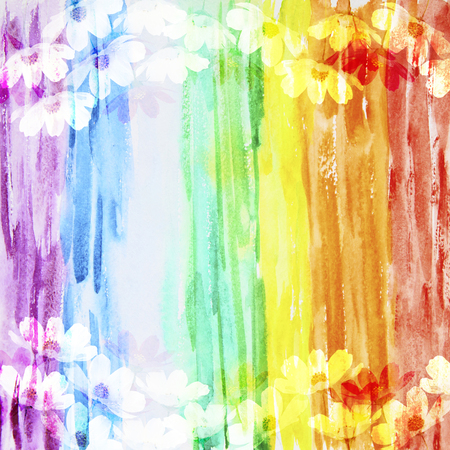 The picturesque rainbow abstract background made with color filters, watercolor composition
