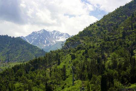kz:  mountain  landscape  Stock Photo