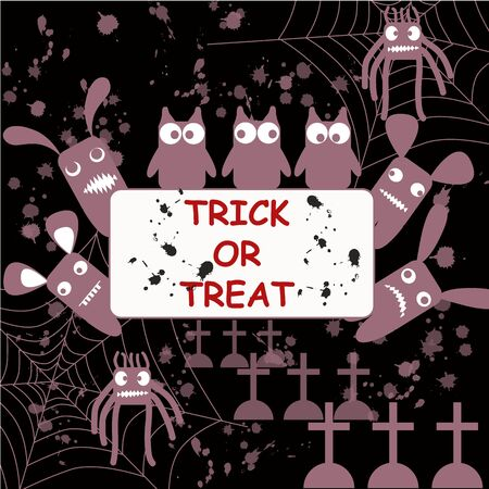 threaten: Halloween poster Trick-or-treat