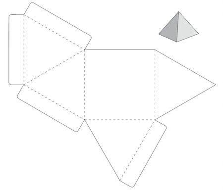 Ilustración del vector de la caja de regalo del arte de diseño, Web site, fondo, bandera. Plantilla plegable paquete.