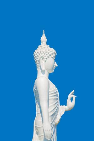 white Buddha background sky Stock Photo - 26189008