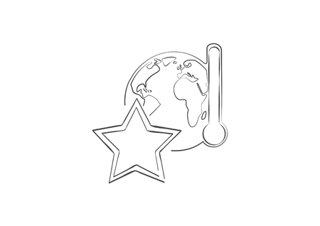 Climate Change Leader Earth Sketch Icon