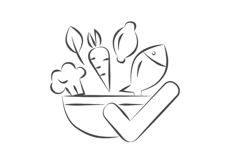 Good Food Right Sketch Hand Drawn Icon