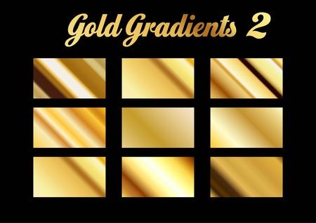 Gold Gradients Stock Illustratie