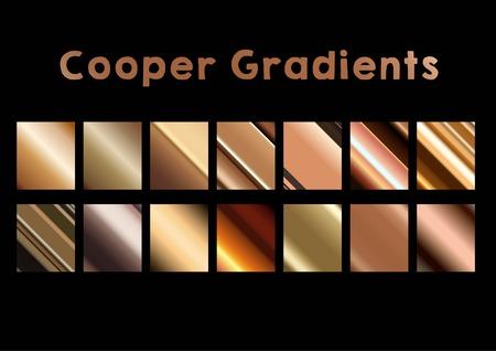 Cooper Gradients Stock Illustratie