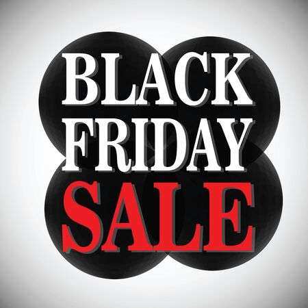 rebates: Black Friday sale. background with black spheres, circles. vector illustration with the inscription
