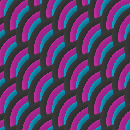grey scale: Vector wavy abstract tricolor background. Background with gray arcs, pink and blue.