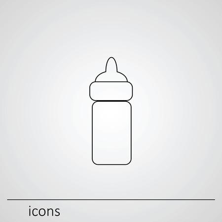 Saugflasche Babys. Icons. Icon Saugflaschen.