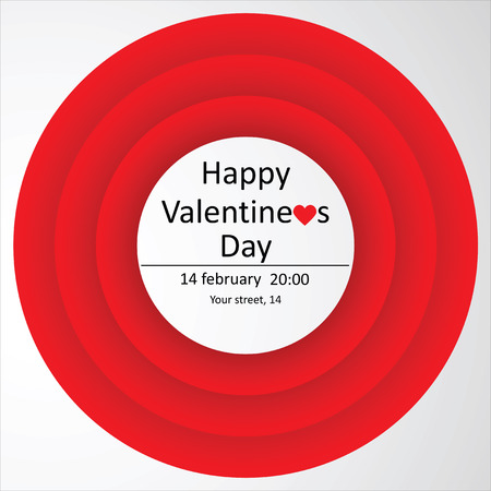 feast day: The invitation to the feast day of St. Valentine. Happy Valentines Day.