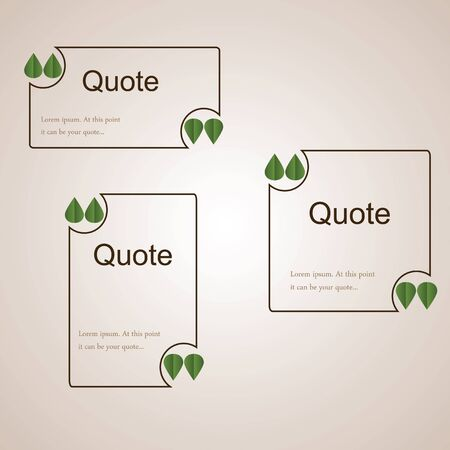 Sq Quote Delectable Quote Empty Brown Pattern With Green Leaves Instead Of Quotation