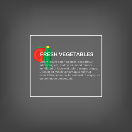 cucumbers: Fresh vegetables. Gray background with space for text, cucumbers and tomatoes.
