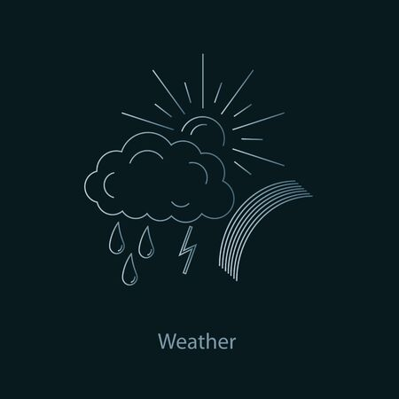 meteorology: Icons spring weather.