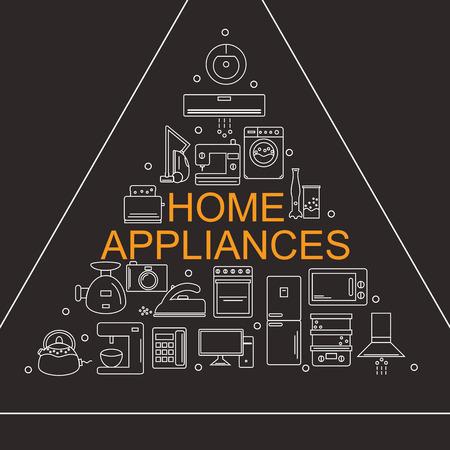 Electrodomésticos iconos.