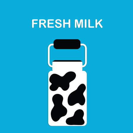 milk cans: Fresh milk. Image of milk cans. Banner or a poster or a label or cover for your store or company. Illustration