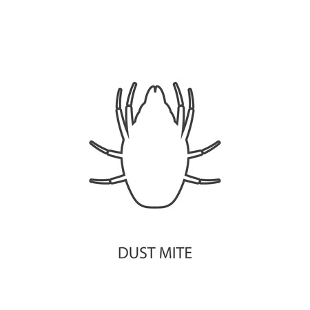 unhygienic: Icon dust mite.