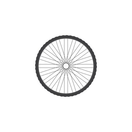 aluminum wheels: Bicycle wheel. Icon of a bicycle wheel. Part of the bike. Illustration