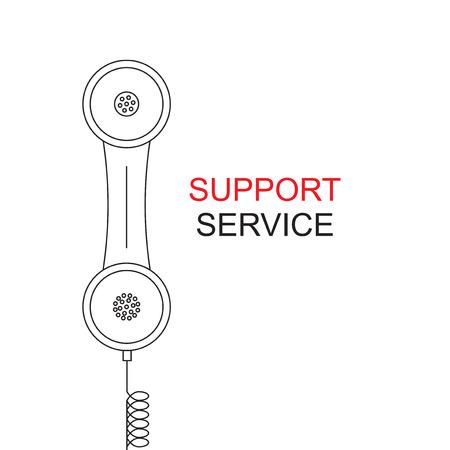 handset: Support service. Image handset.