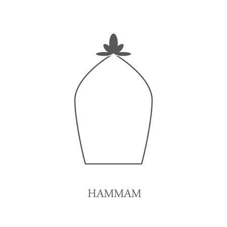 steam bath: Hammam icon. Turkish bath.