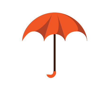 red umbrella: Modern red umbrella isolated on white background. Umbrella to shelter from rain and sun. Vector illustrations.