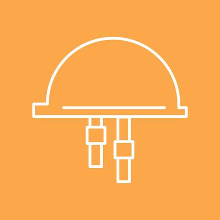 elementos de protecci�n personal: Protecci�n personal. la construcci�n del casco de protecci�n. Ilustraci�n del vector.