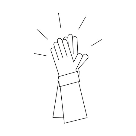 Applause. Hands clap. illustration of style line. Illustration