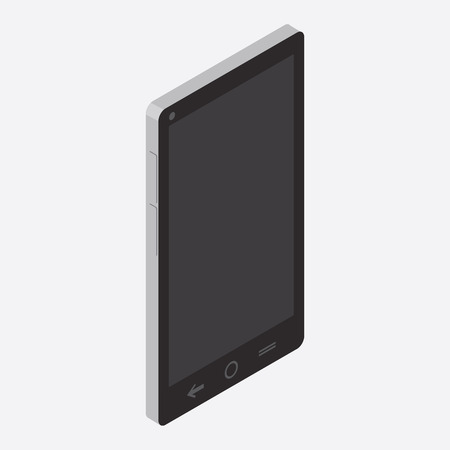 iphon: Isometric modern black mobile phone