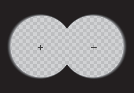 View binoculars on a transparent background. Vector illustration.