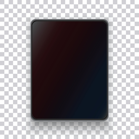 touchpad: A realistic tablet on a transparent background. Electronic home appliances. Vector illustration. Illustration