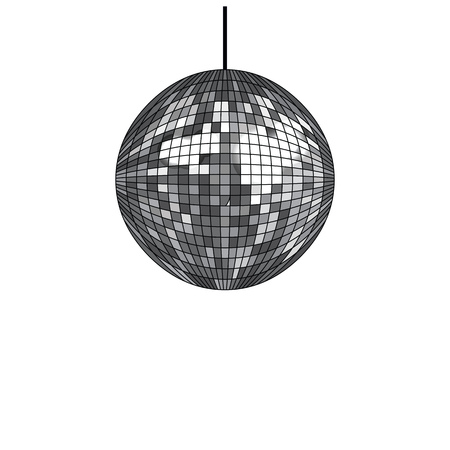 Disco ball isolated on white background. Vector illustration. Ilustracja
