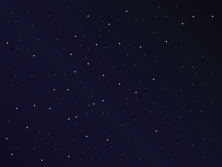 The starry sky is dark. Vector illustration.
