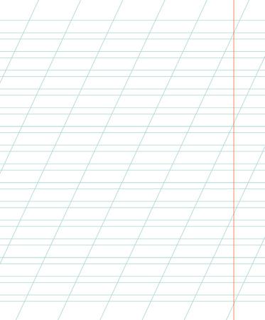 斜めの線を定規で学校のノートのシート。学校の背景。ベクトルの図。
