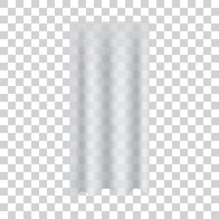 Realistic transparent curtain. Vector illustration. Ilustracja