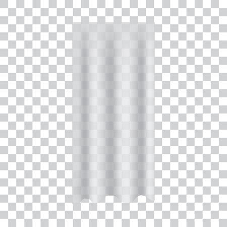 Realistic transparent curtain. Vector illustration. Illustration