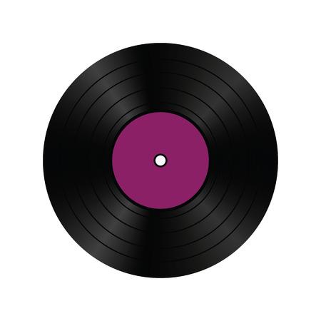 現実的なビニール レコード。ベクトルの図。  イラスト・ベクター素材