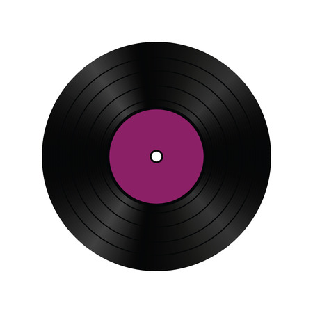A realistic vinyl record. Vector illustration.