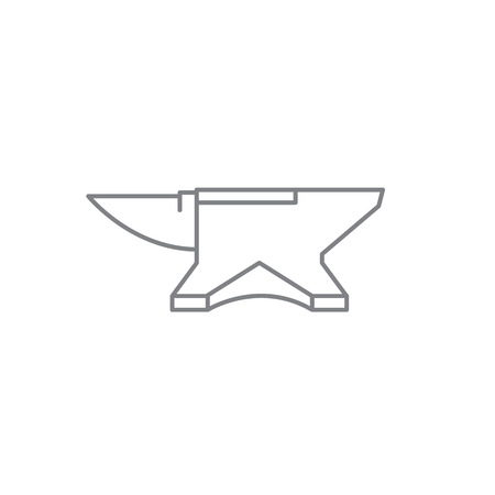 Icon blacksmiths anvil. Vector illustration. Ilustracja