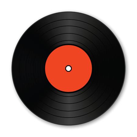 シャドウと現実的なビニール レコード。ベクトルの図。