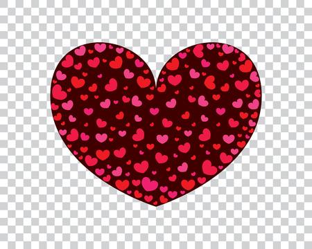 心を込めてバレンタインのグリーティング カード。ベクトルの図。